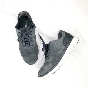 Vionic Lace Up Ortha Heel Suede Running Sneakers